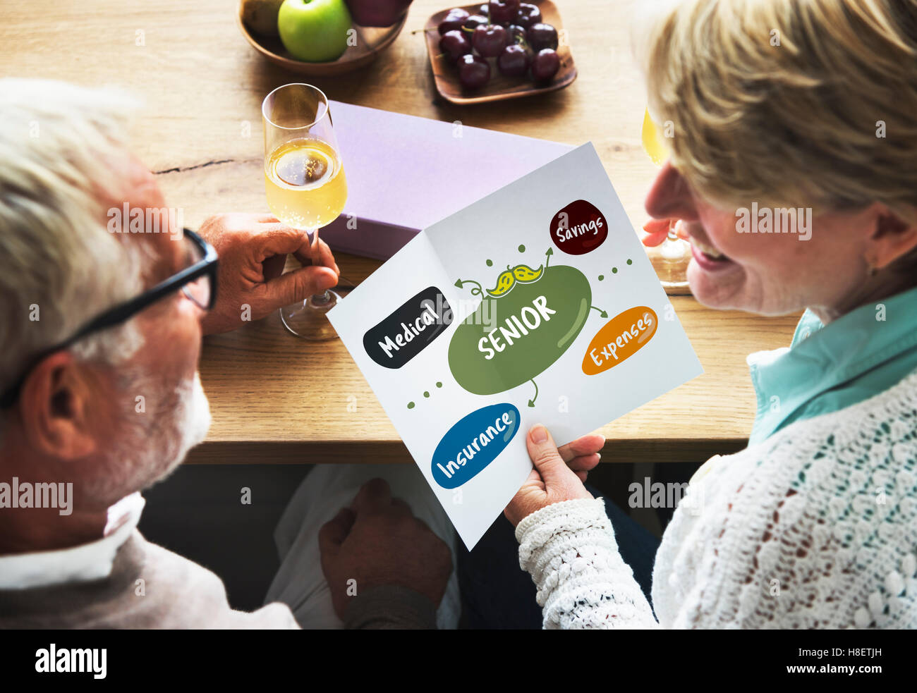 Senior Investment Pension Retirement Plan Savings Concept - Stock Image