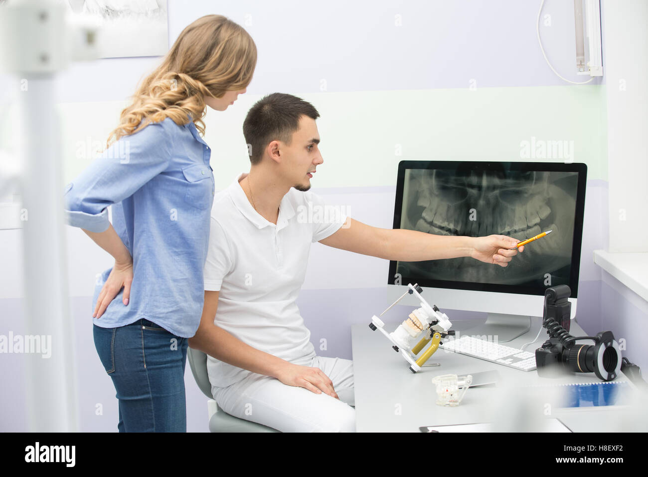 Dentist and patient - Stock Image