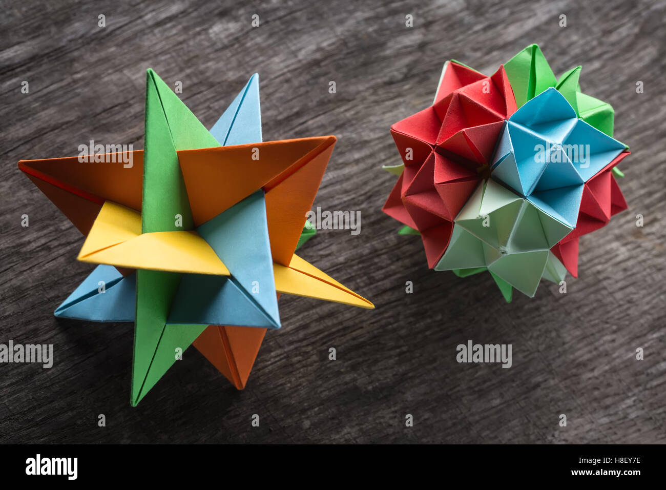 Couple of  origami - Stock Image