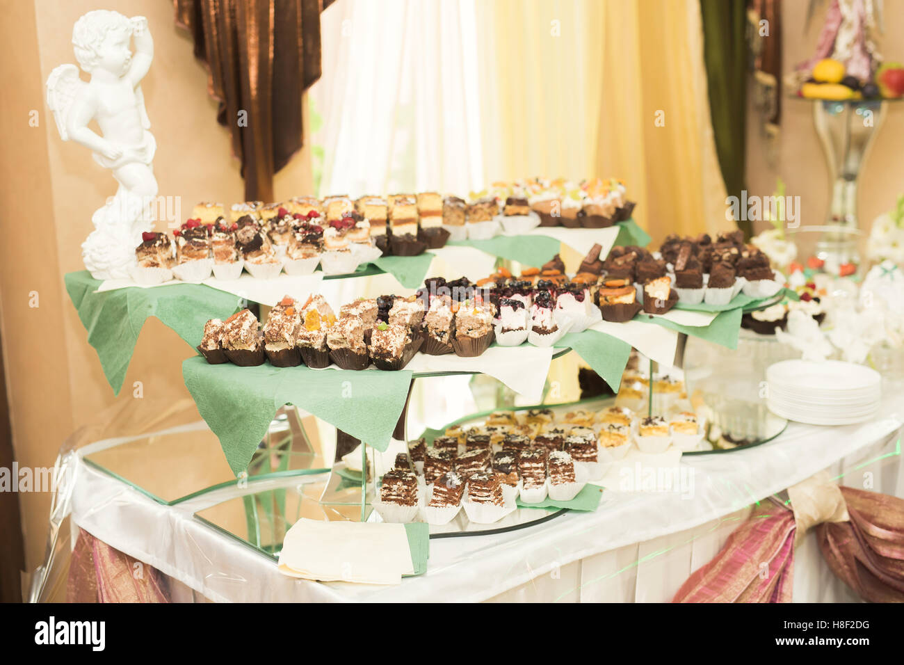 Buffet with a variety of delicious sweets, food ideas, celebration ...