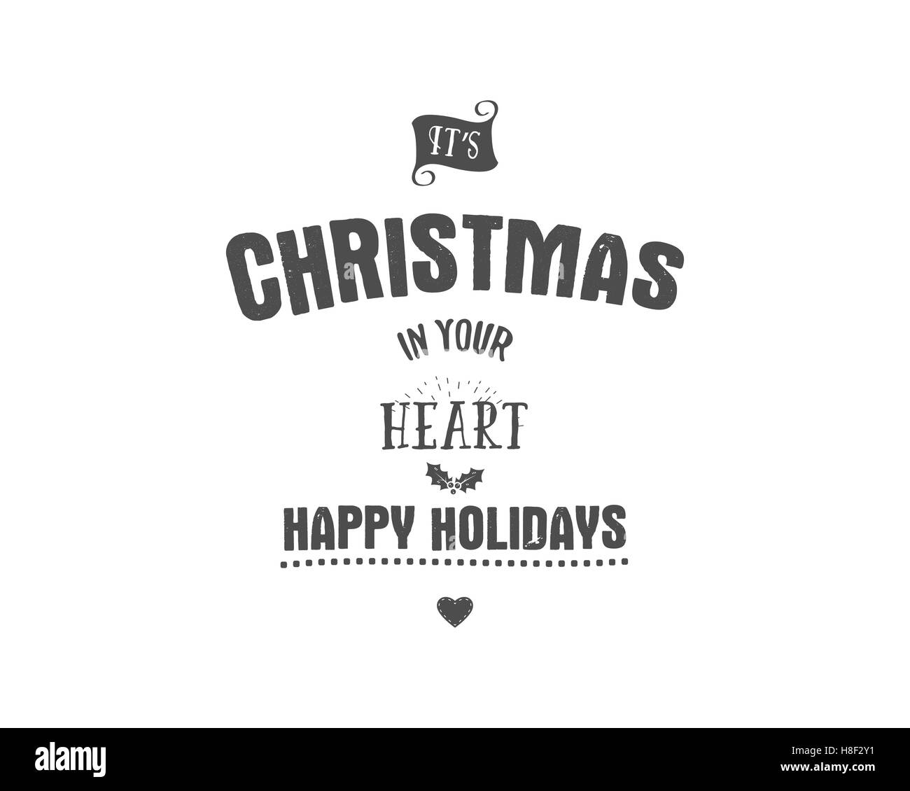 Merry Christmas Lettering Wishes Clipart For Holiday Season Cards