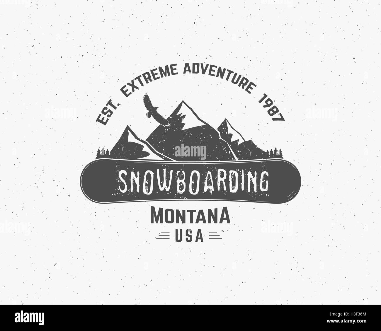 Snowboarding extreme logo and label templates. Winter snowboard ...