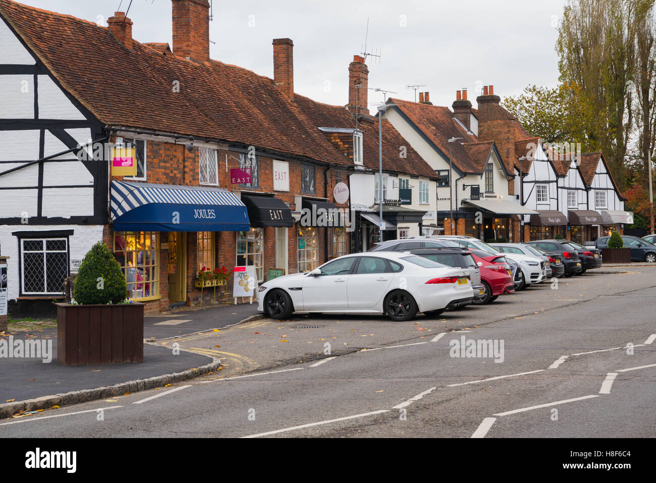 View of the High Street in Old Amersham, Buckinghamshire, England. November 2016 - Stock Image