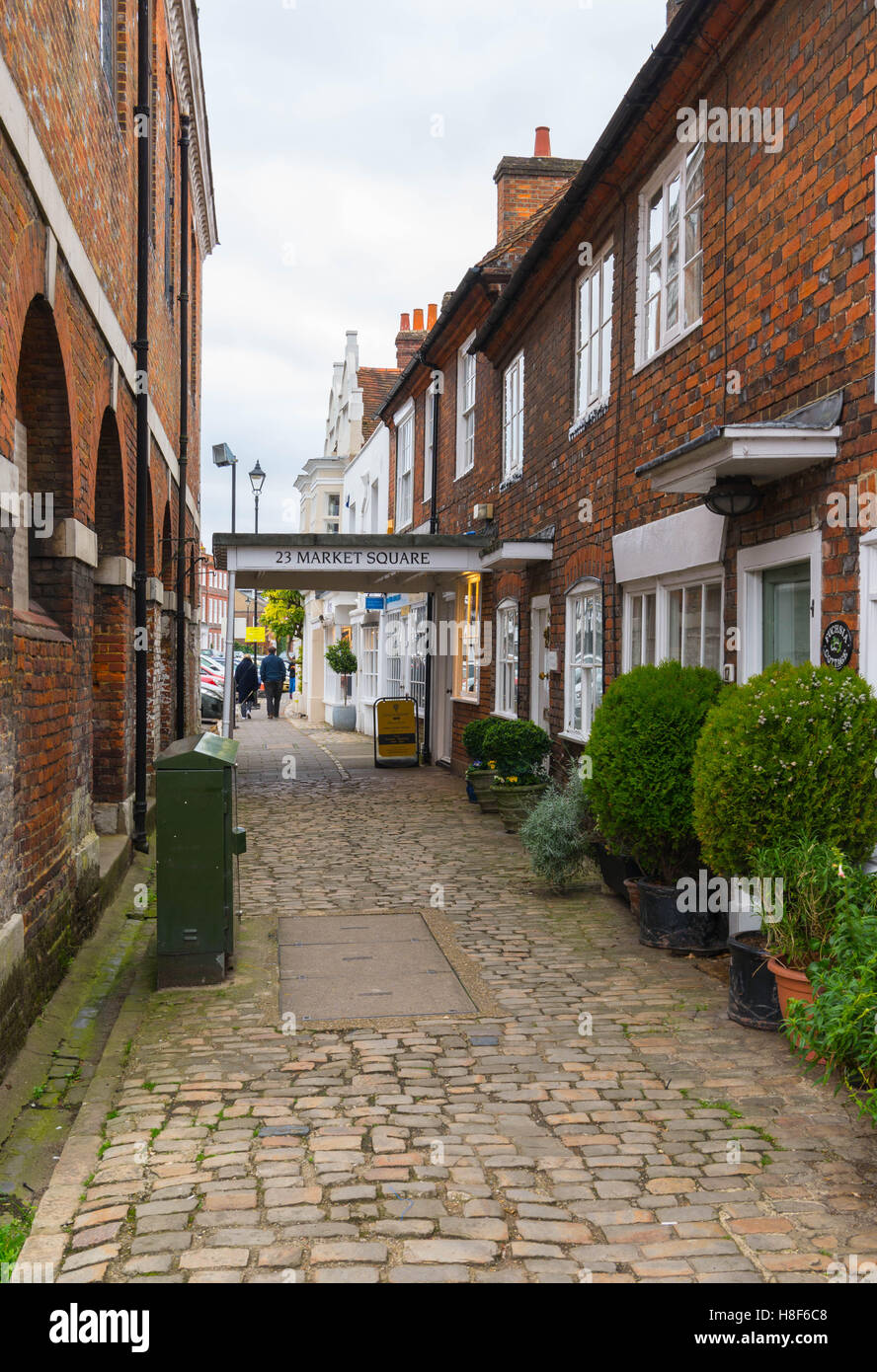 View of the High Street in Old Amersham, Buckinghamshire, England. November 2016. Stock Photo