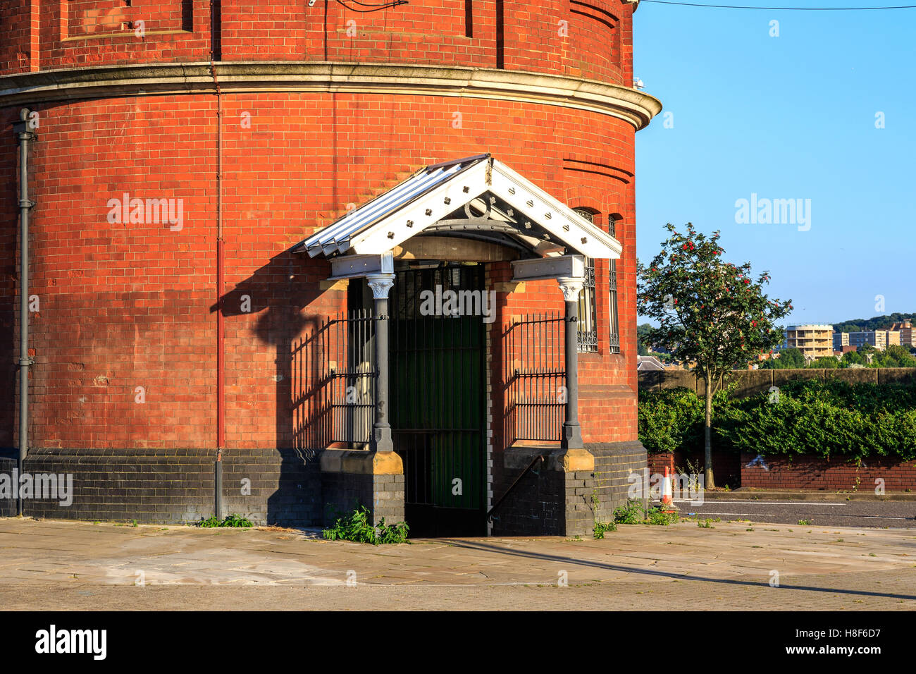 North entrance of Woolwich foot tunnel in East London - Stock Image