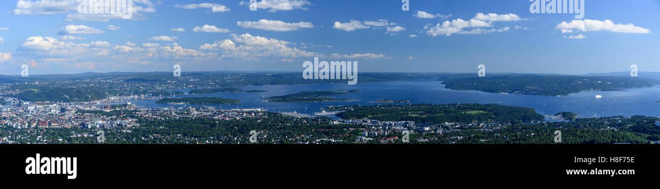 View from Holmenkollen, Oslo, Norway Stock Photo