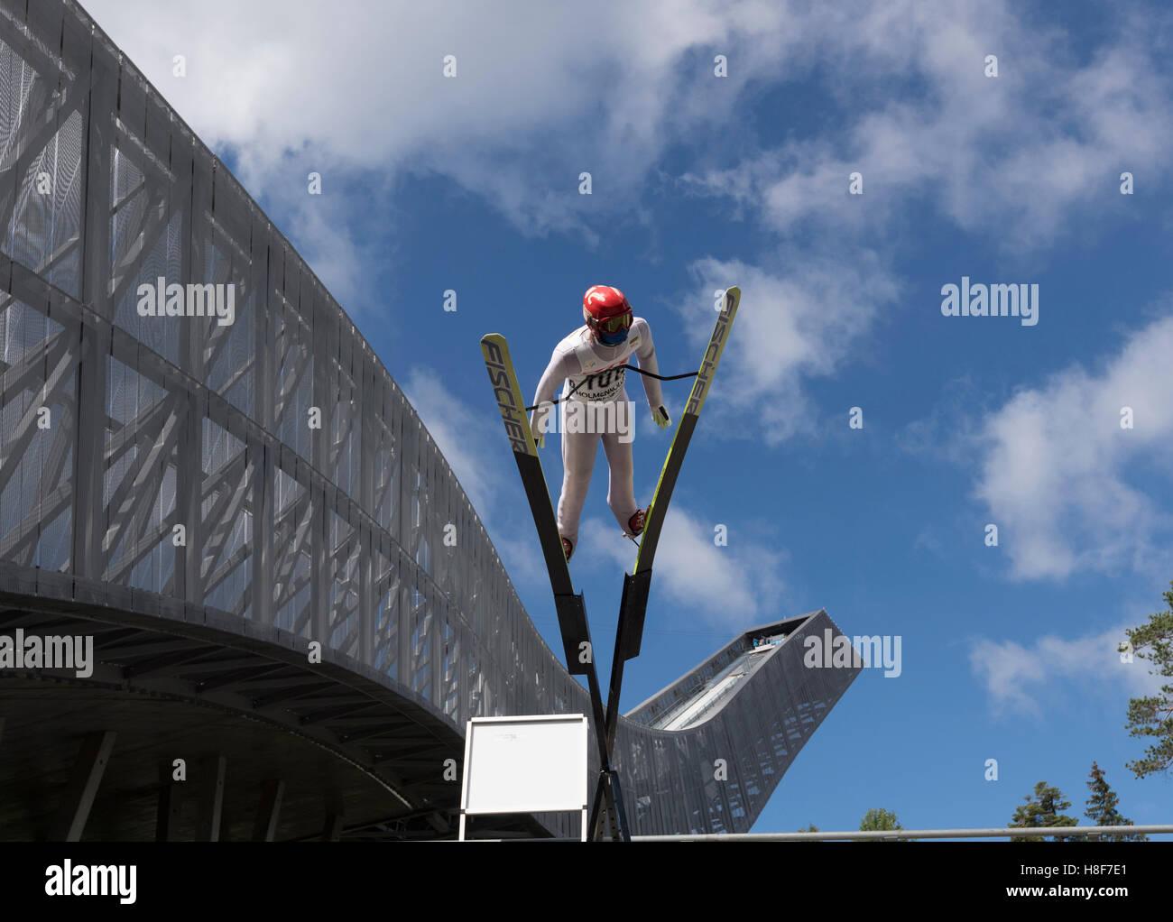 Ski jumper, Holmenkollen, Oslo, Norway - Stock Image