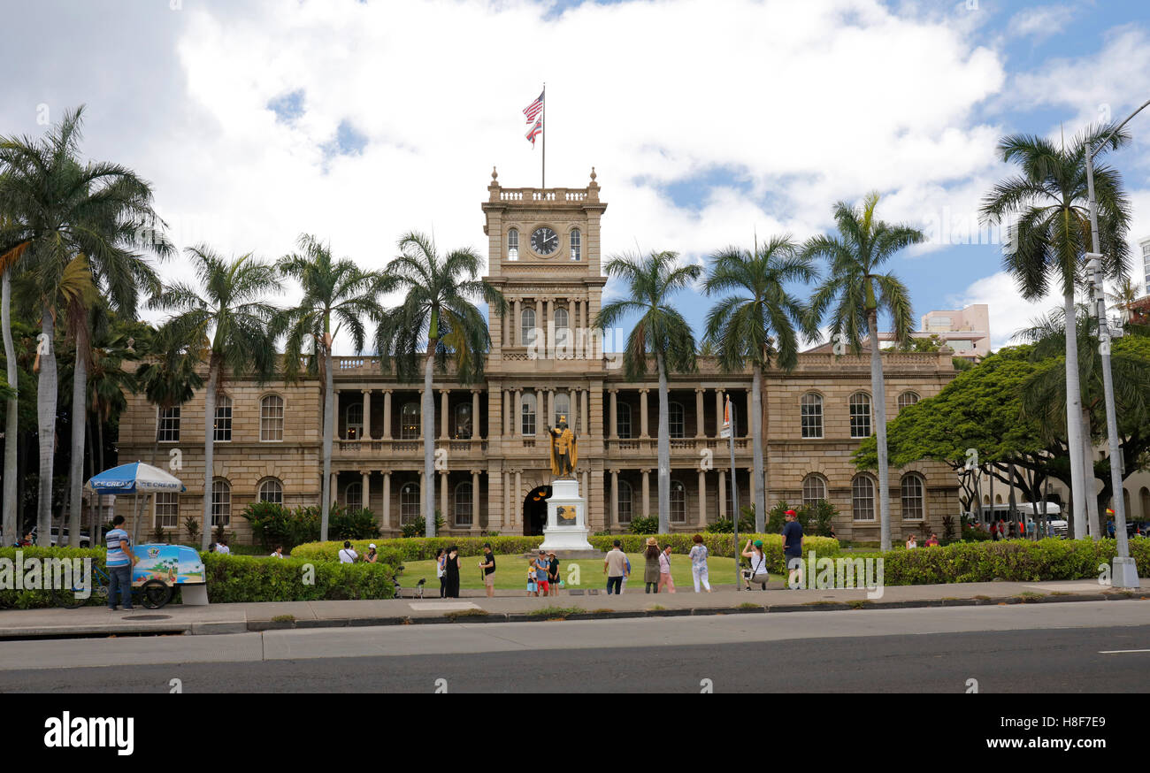 King Kamehameha V, Judiciary History Center, Honolulu, Oahu, Hawaii, USA - Stock Image