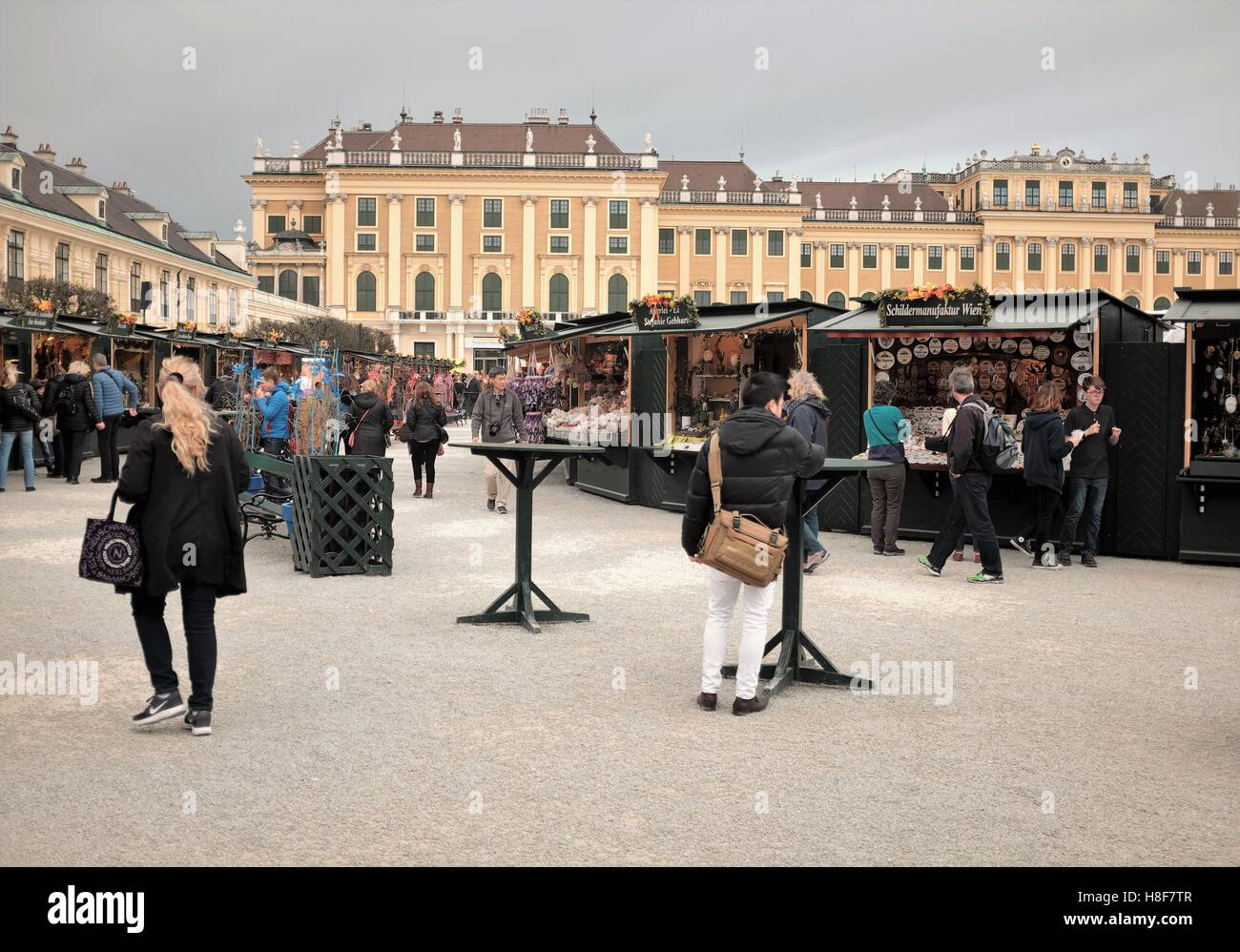 The annual Vienna Easter Market is a public event attended by domestic and international tourists as well as locals. - Stock Image
