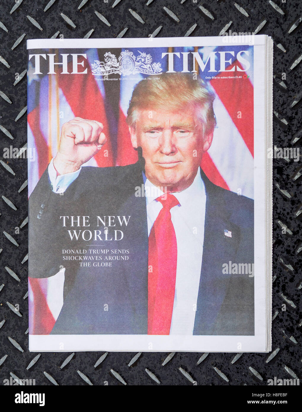 The Times newspaper front page - Stock Image
