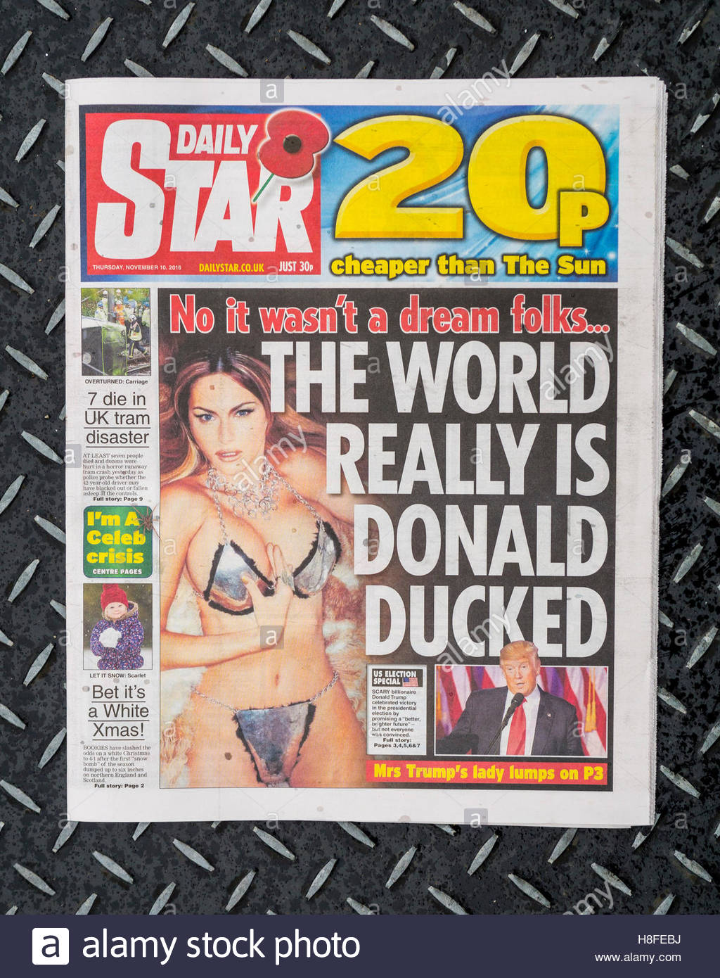 Daily Star newspaper front page - Stock Image