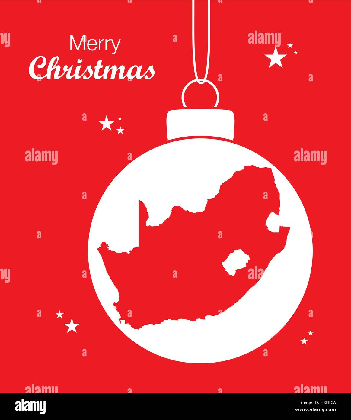Christmas In South Africa Images.Merry Christmas Map South Africa Stock Vector Art