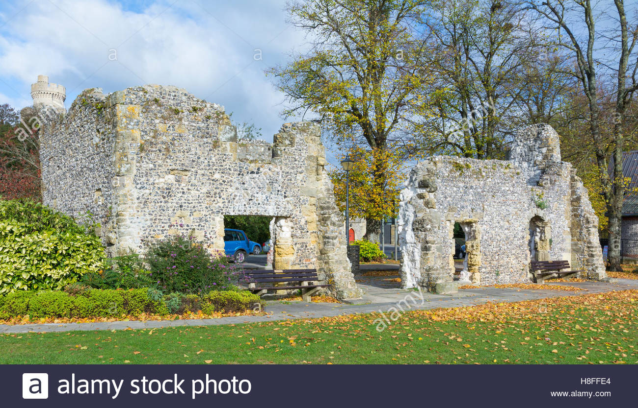 Remains of Blackfriars Dominican Priory, in Arundel, West Sussex, England, UK. - Stock Image