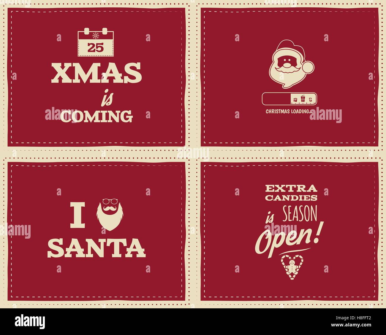 Christmas Quotes For Kids.Set Of Christmas Funny Signs Quotes Backgrounds Designs For