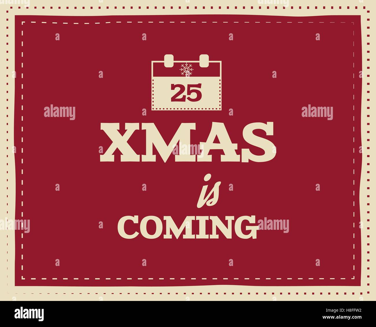 Christmas Unique Funny Sign Quote Background Design For Kids Stock Vector Image Art Alamy