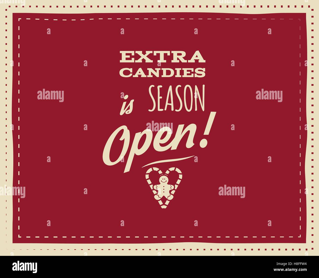 Christmas Unique Funny Sign Quote Background Design For Kids Candy Stock Vector Image Art Alamy