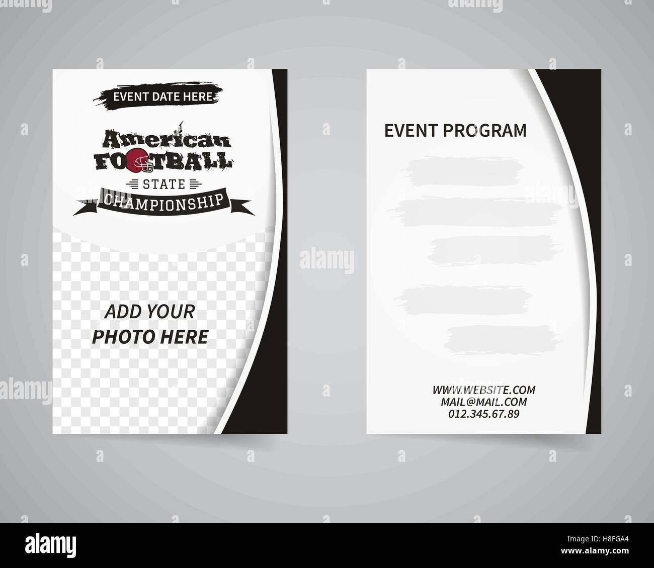 event pamphlet sport stock vector images alamy