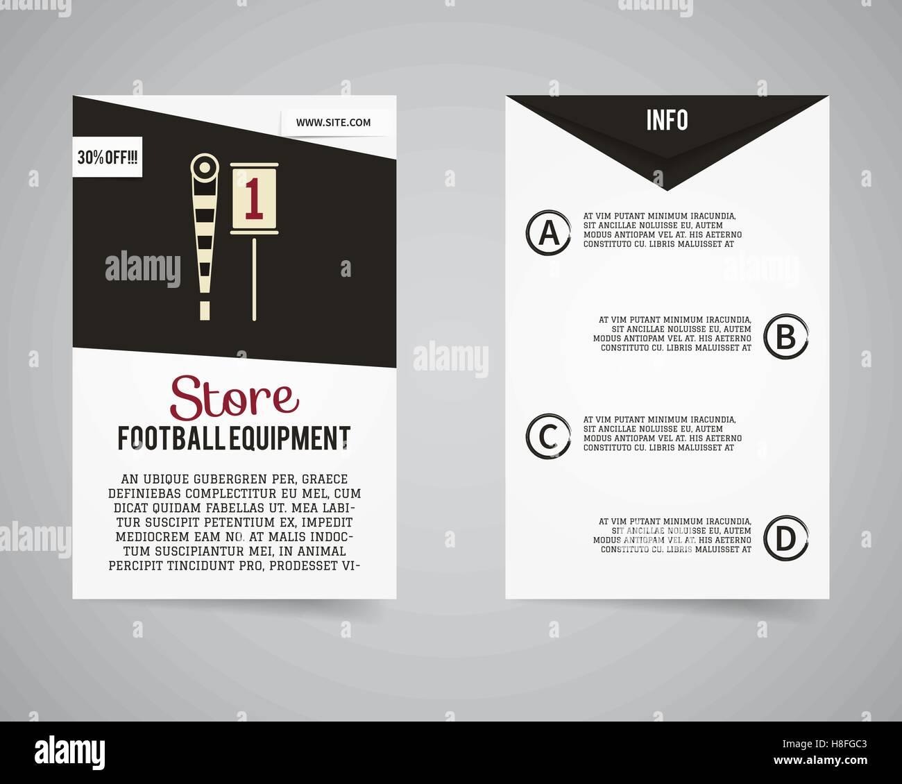 american football equipment store shop flyer template design usa
