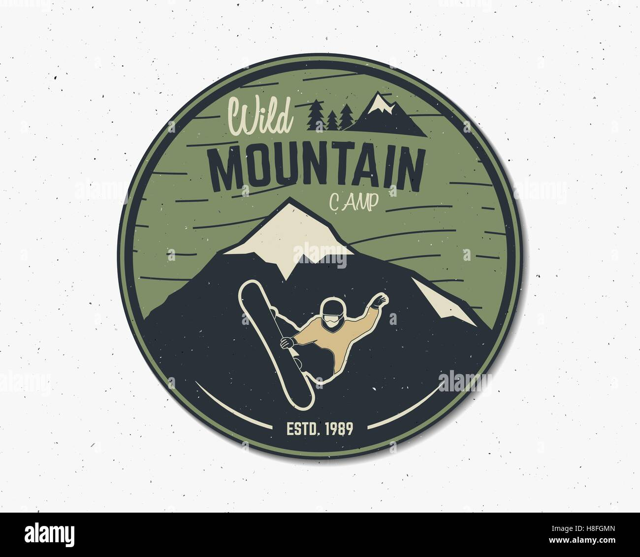 Mountain camp vintage explorer label  Outdoor adventure logo