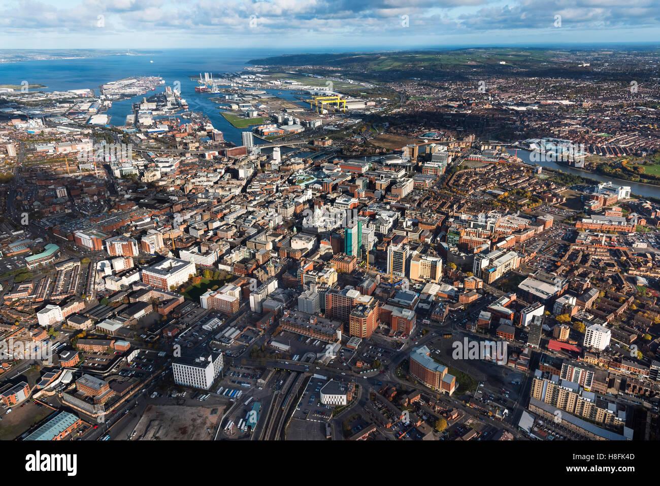 Belfast Aerial 2016 - Stock Image