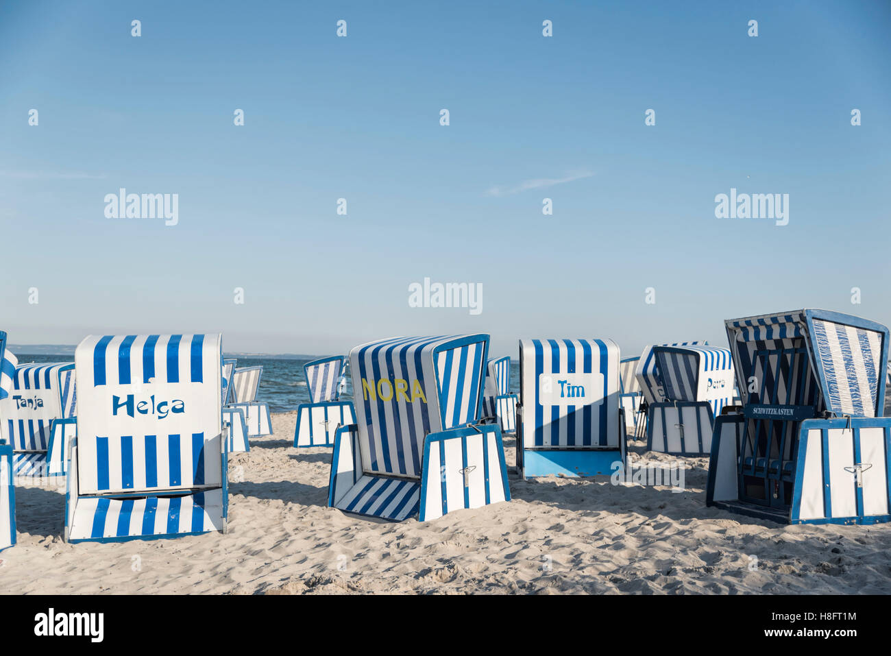 Outstanding Blue White Striped Beach Chairs On The Island Of Ragen Caraccident5 Cool Chair Designs And Ideas Caraccident5Info