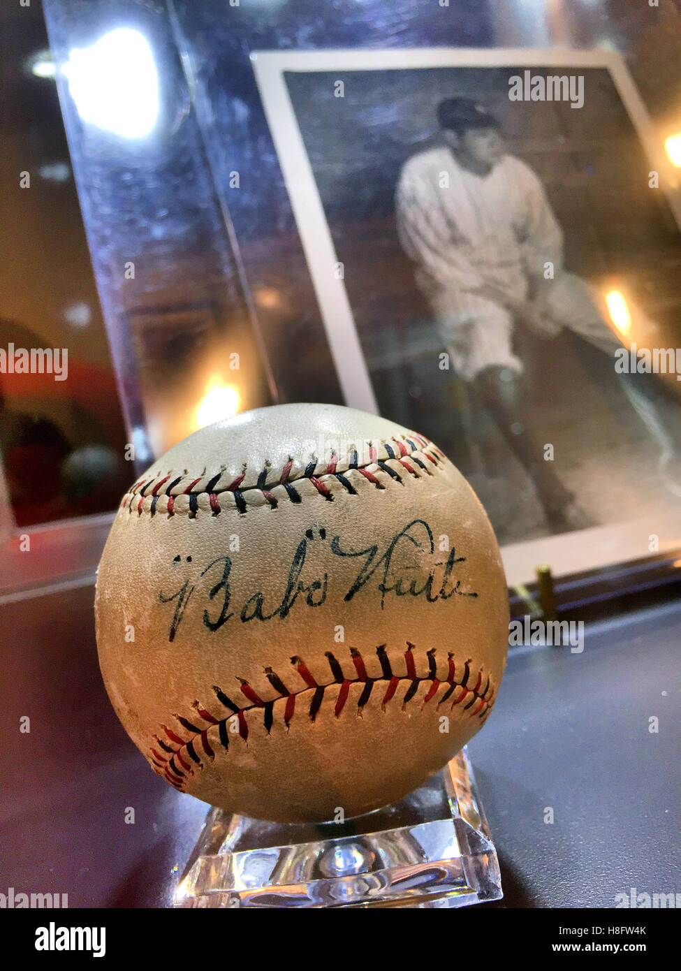 'The Golden Age of Baseball' at Christie's Inc. Auction House, New York City - Stock Image