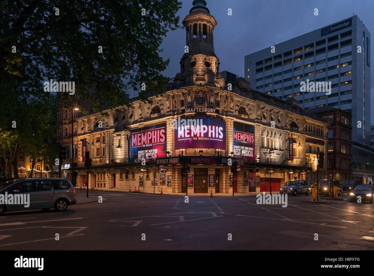 England, London, Shaftesbury Theatre, 210 Shaftesbury Avenue. - Stock Image