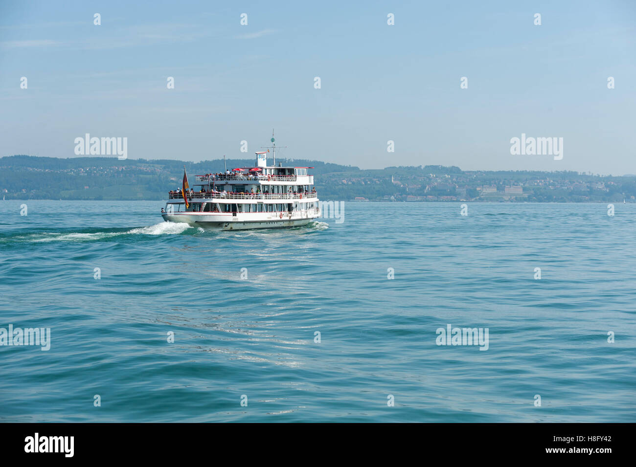 Germany, Constance, passenger ship of the 'Weiße Flotte' on the lake - Stock Image