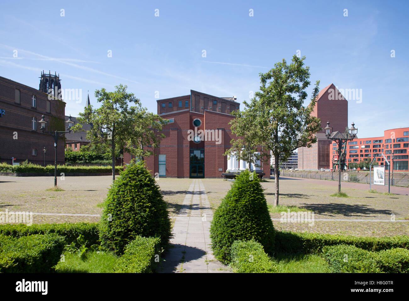 Garten der Erinnerung by Dani Karavan, inner harbour, Duisburg, Ruhr area, North Rhine-Westphalia, Germany, Europe - Stock Image