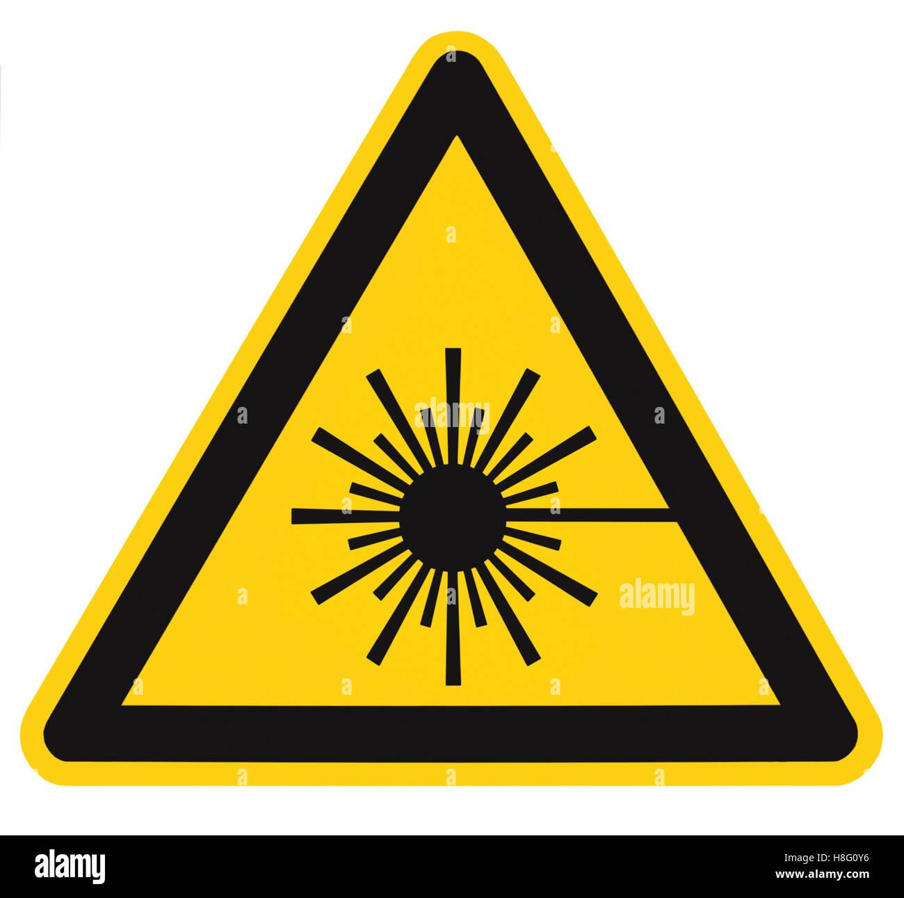 laser hazard sign stock photos laser hazard sign stock images alamy