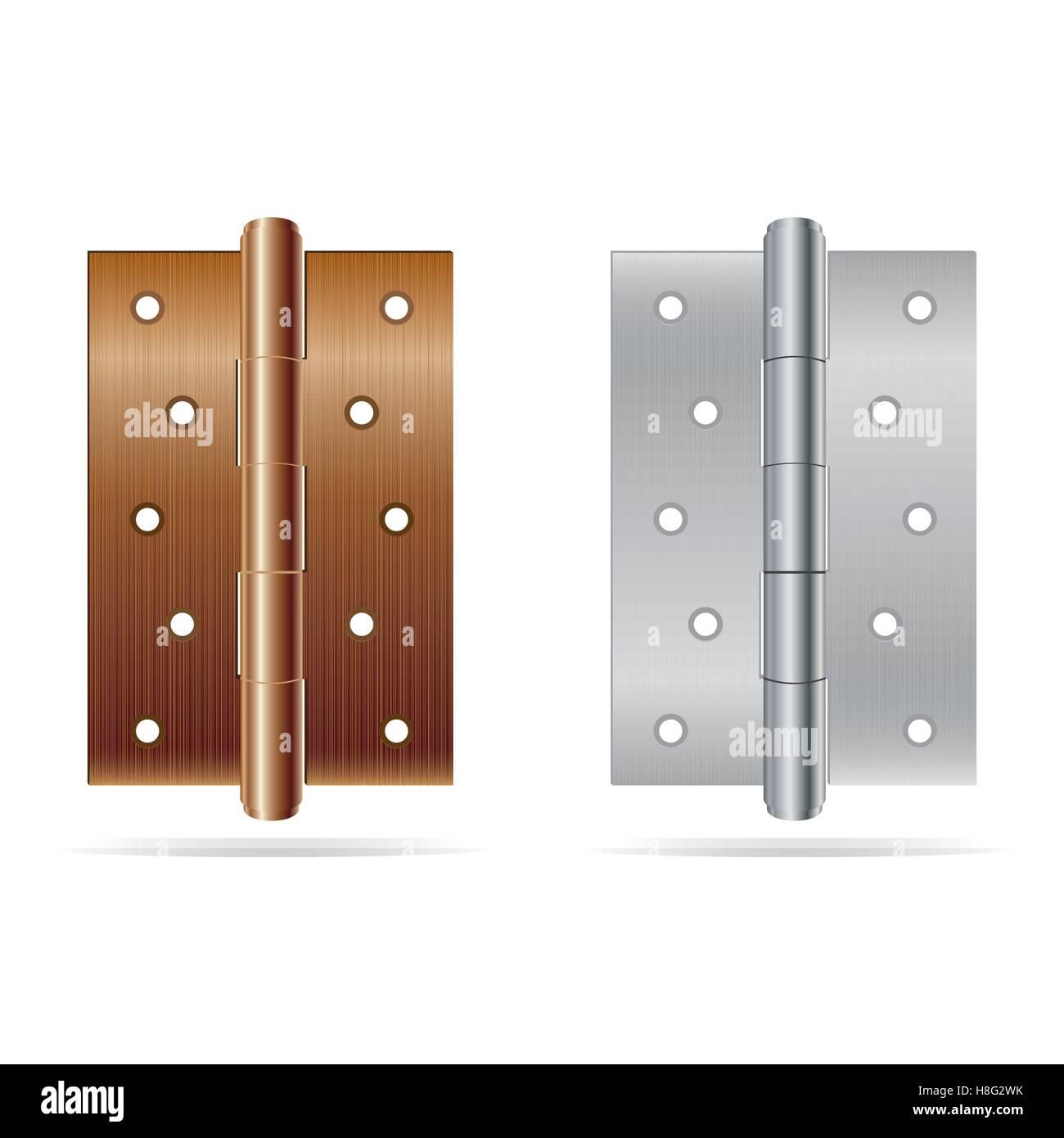 hinge, door, vector, construction, metal, isolated, steel, hardware ...
