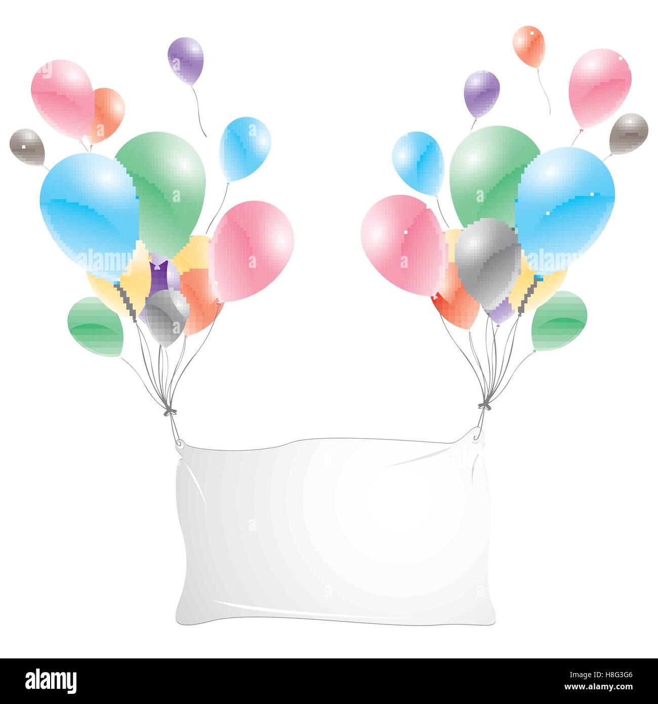 Balloons Banner Sign Party Balloons Stock Photos ...