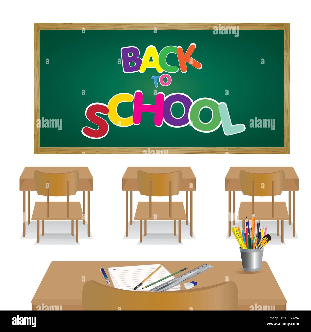 Welcome Back To School, Table, Back To School, Chalkboard