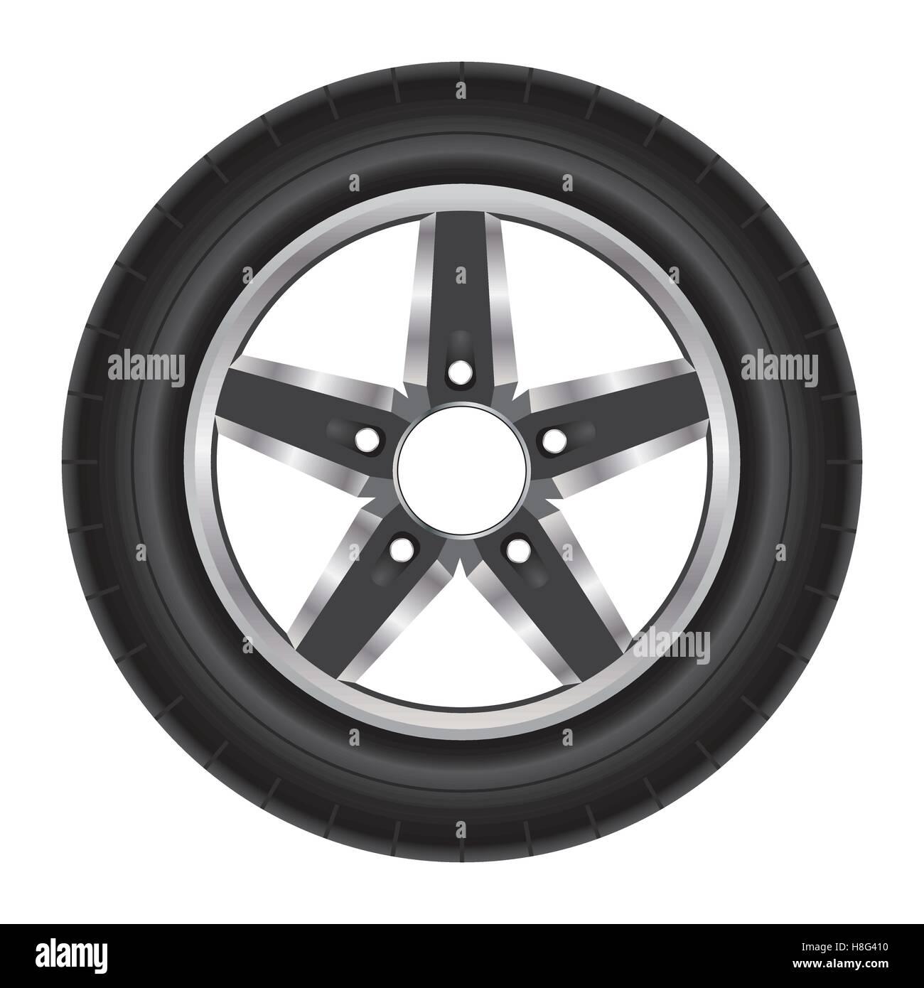 Wheel Car Tire Motorcycle Wheel Illustration White Background