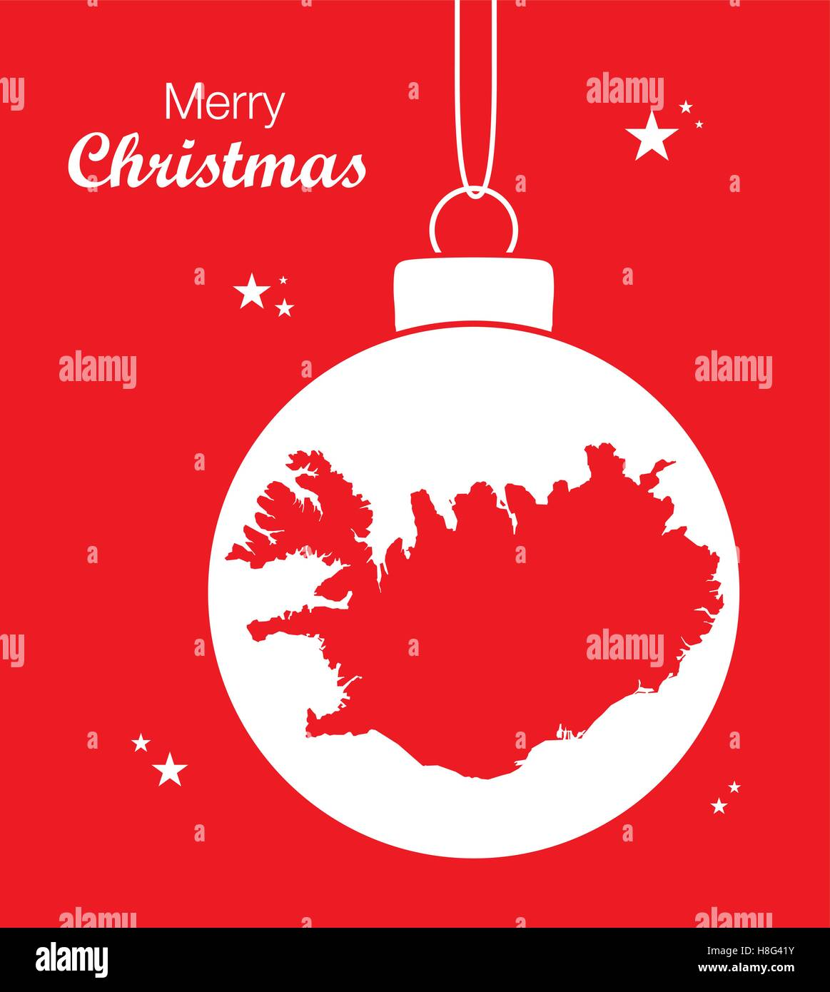 merry christmas map iceland stock vector - Merry Christmas In Icelandic
