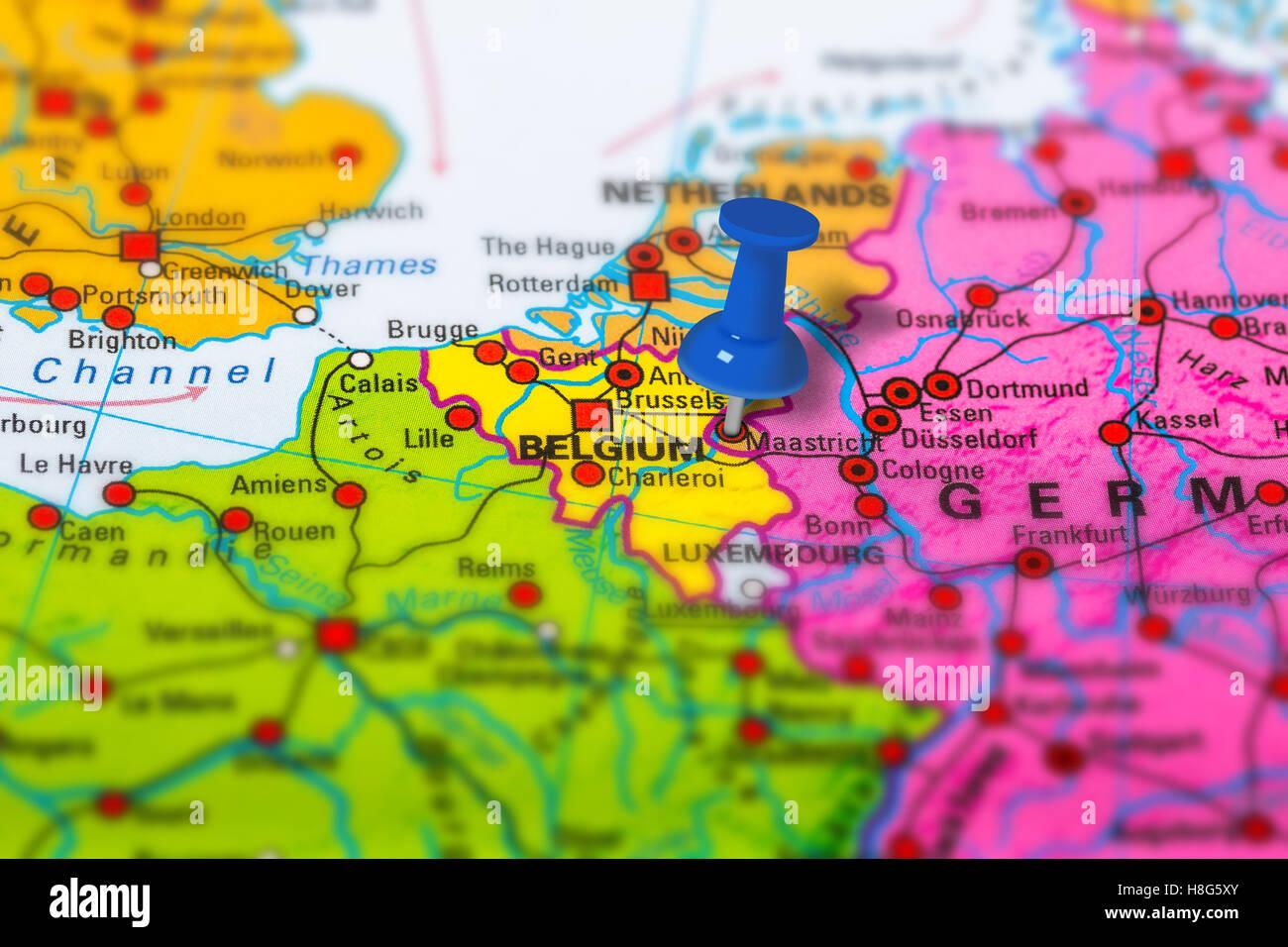 maastricht belgium map