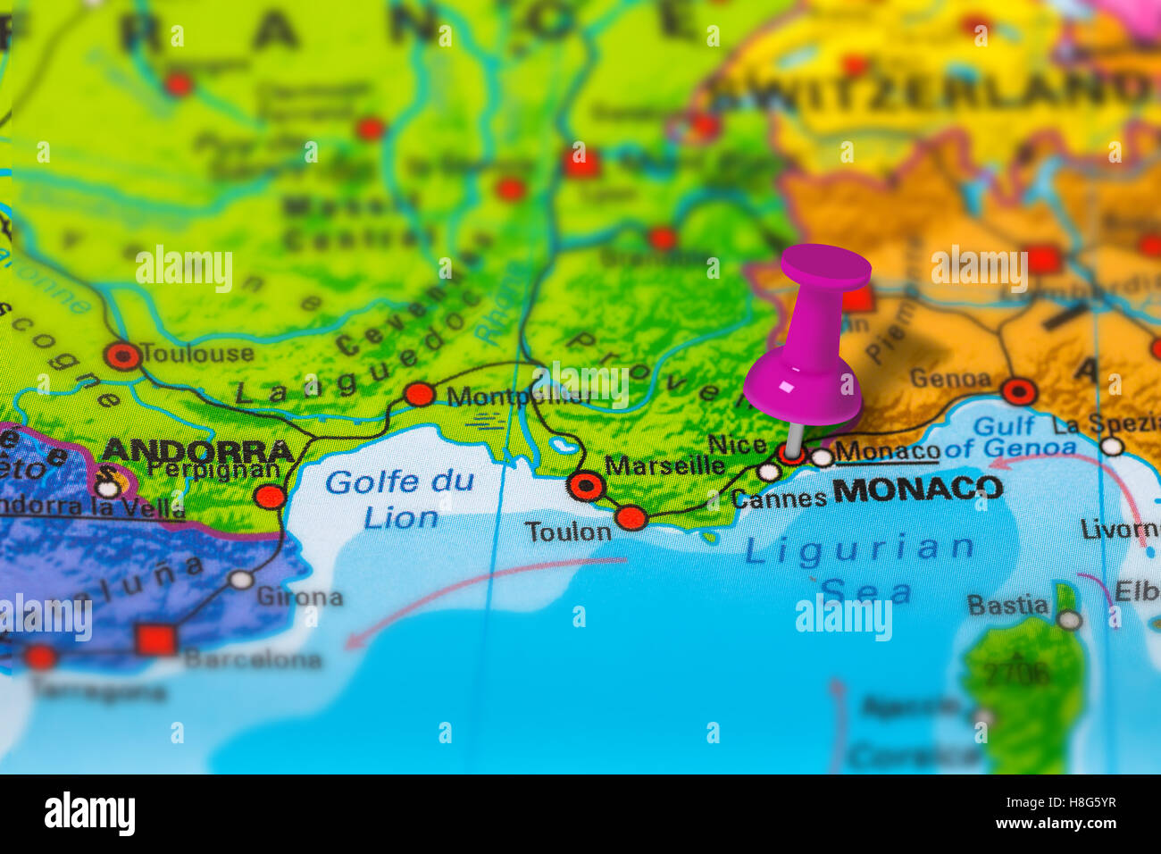 Nice France Map Stock Photos Nice France Map Stock Images Alamy