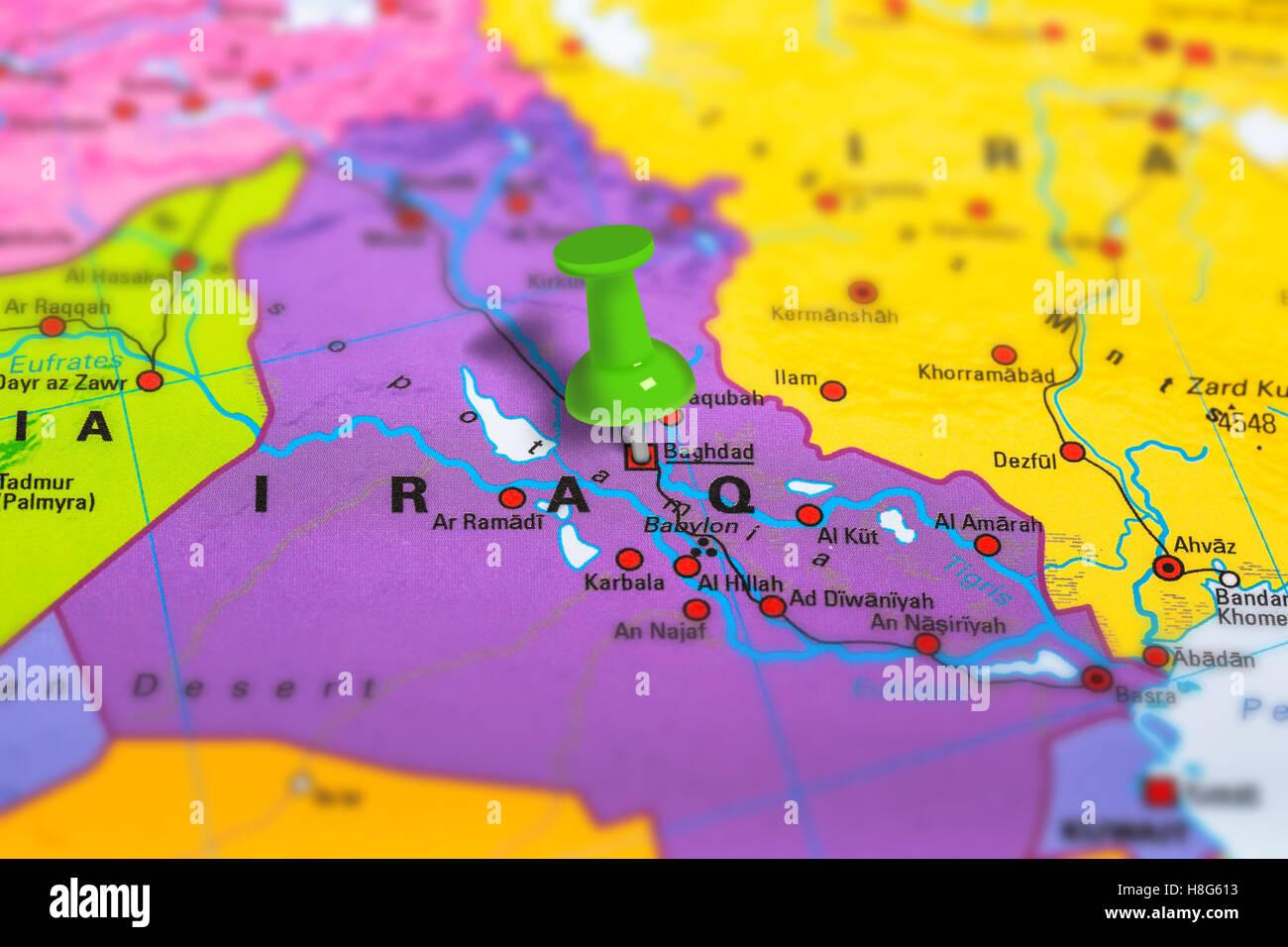 baghdad iraq map