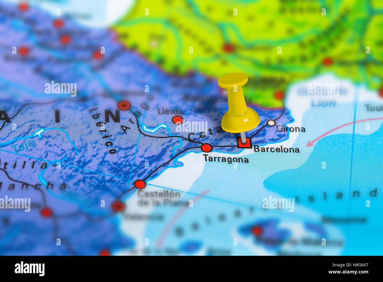 Barcelona In Spain Map.Barcelona Spain Map Stock Photo 125745879 Alamy