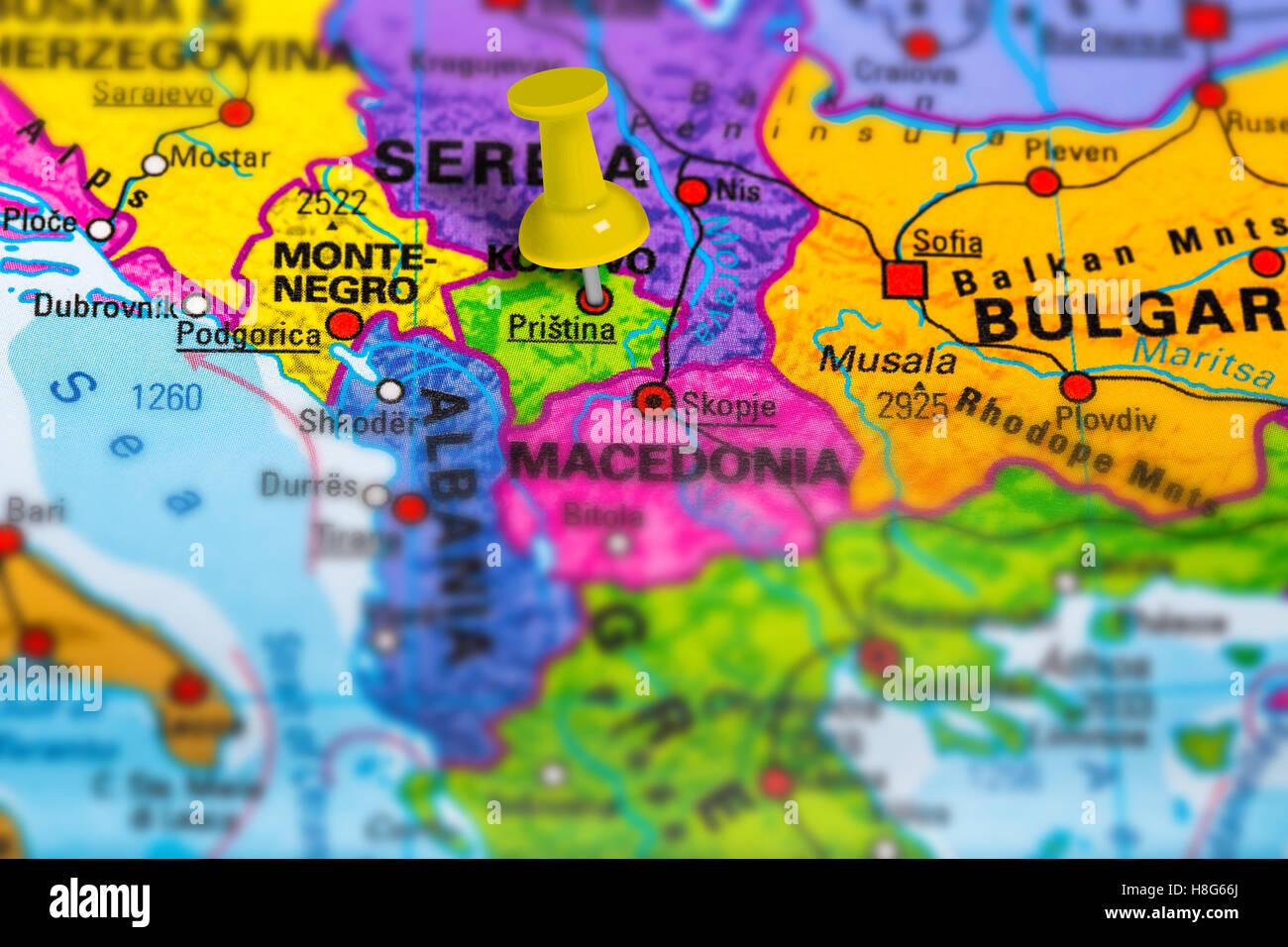 Pristina Kosovo map Stock Photo 125745946 Alamy