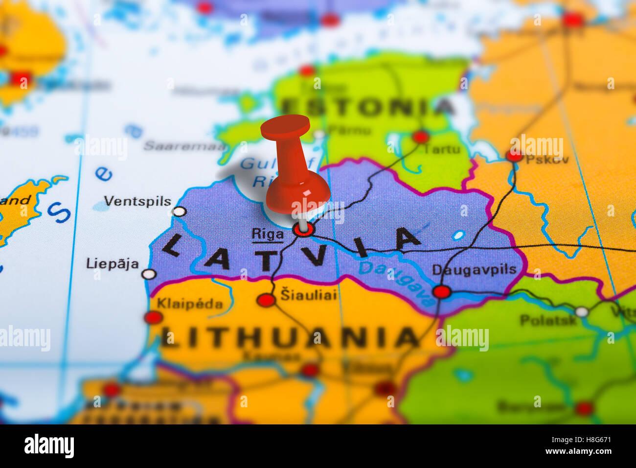Image of: Riga Latvia Map Stock Photo Alamy