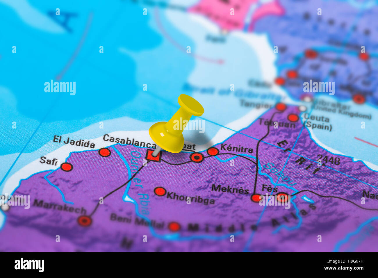 Casablanca Morocco map Stock Photo 125745973 Alamy
