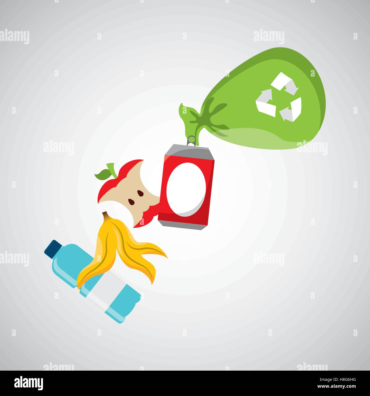 concept recycling process trash icond design vector illustration eps 10 - Stock Vector