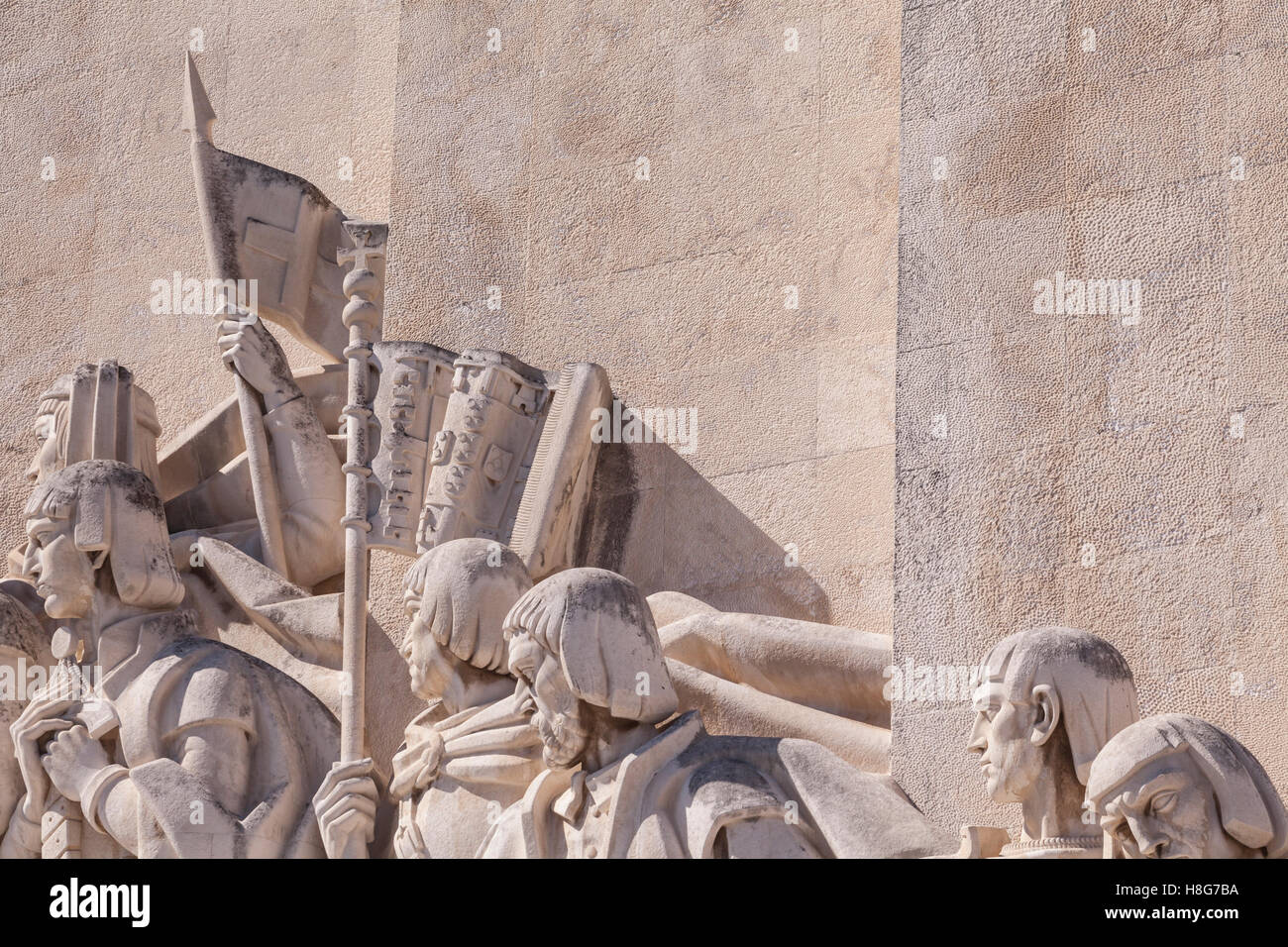 The Padrao dos Descobrimentos (Monument to the Discoveries) in Lisbon, Portugal. - Stock Image