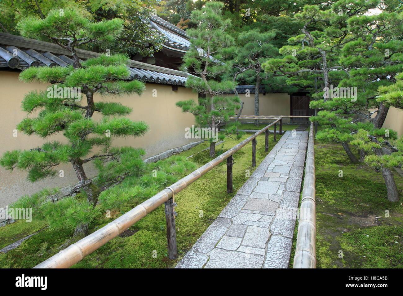 Japan, Kyoto, Daitoku-ji, Koto-in, garden, , path, - Stock Image