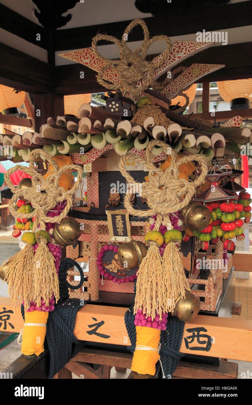 Japan, Kyoto, Zuiki festival, mikoshi, portable shrine, - Stock Image