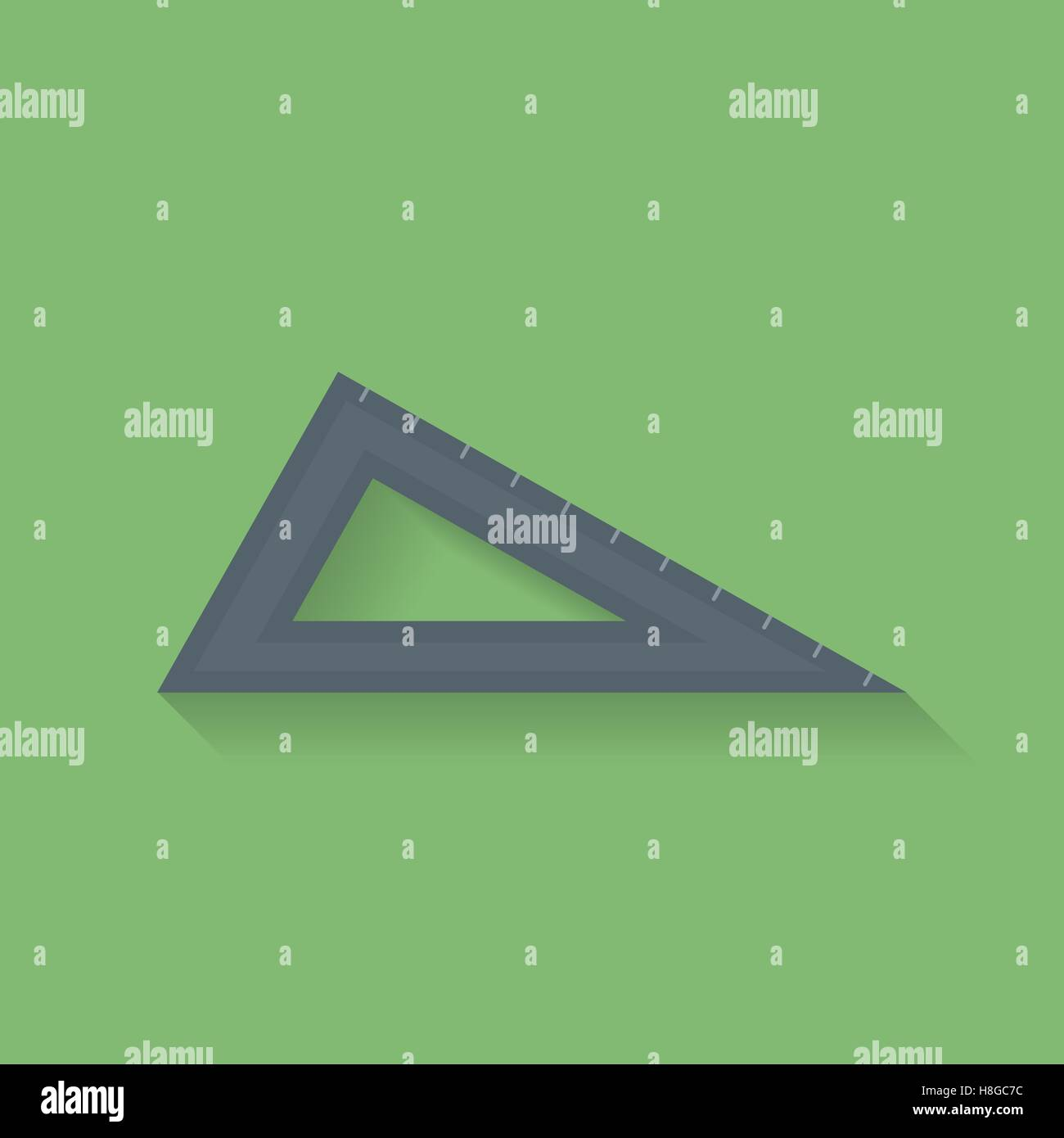 Icon of triangle ruler. Flat style  vector icon - Stock Vector