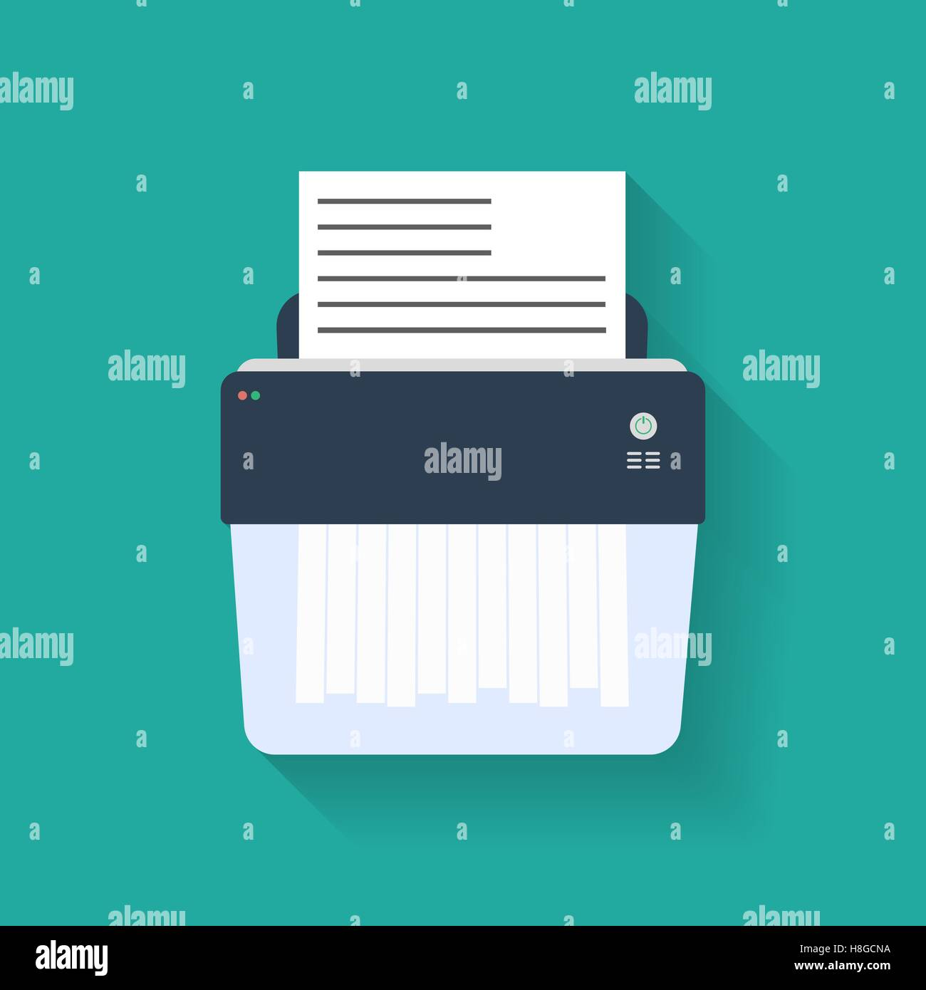 Icon of paper Shredder. Flat style - Stock Vector