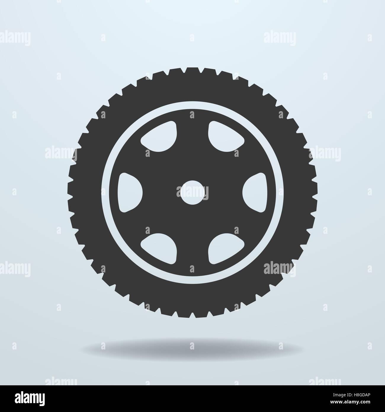 Car wheel icon. Car tire, rim. - Stock Vector