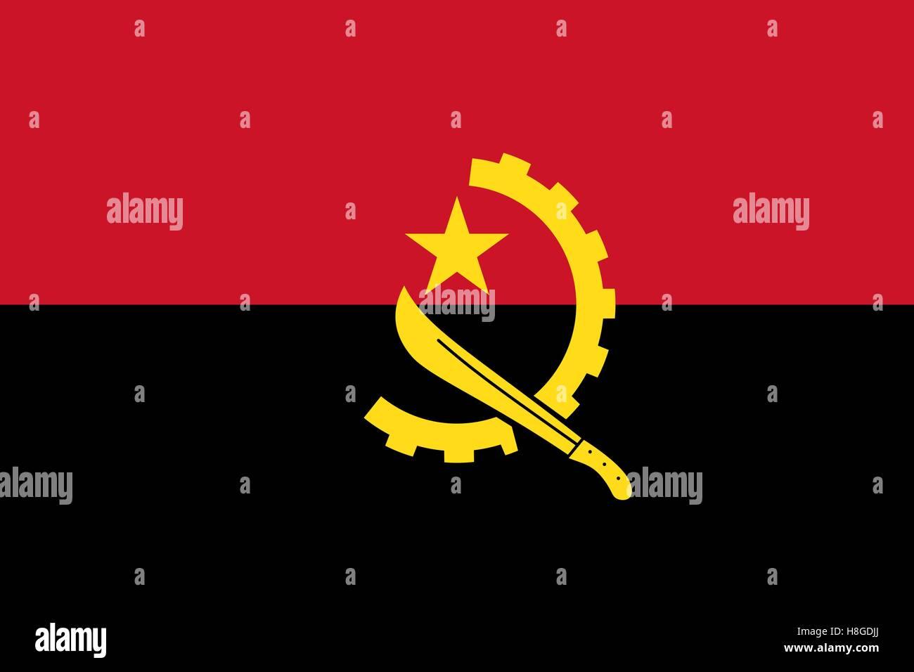 Flag of Angola - Stock Vector